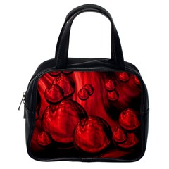 Red Bubbles Classic Handbag (One Side)