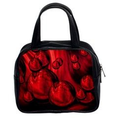 Red Bubbles Classic Handbag (two Sides)