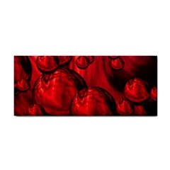 Red Bubbles Hand Towel