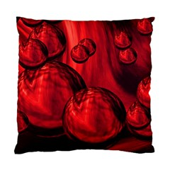 Red Bubbles Cushion Case (single Sided)
