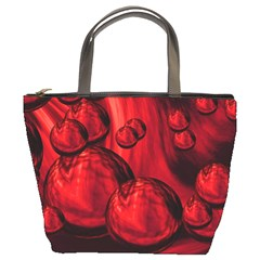 Red Bubbles Bucket Bag
