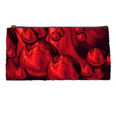 Red Bubbles Pencil Case