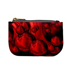 Red Bubbles Coin Change Purse