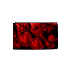 Red Bubbles Cosmetic Bag (Small)