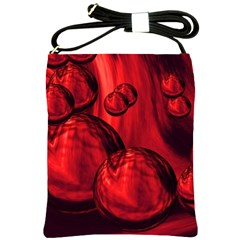 Red Bubbles Shoulder Sling Bag