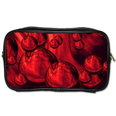 Red Bubbles Travel Toiletry Bag (One Side)