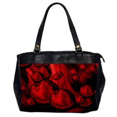 Red Bubbles Oversize Office Handbag (One Side)
