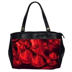 Red Bubbles Oversize Office Handbag (Two Sides)