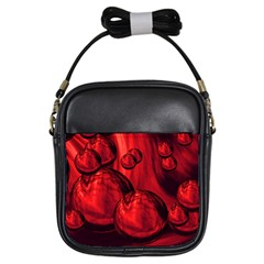 Red Bubbles Girl s Sling Bag