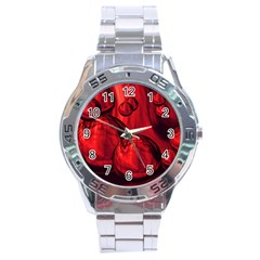 Red Bubbles Stainless Steel Watch (Men s)