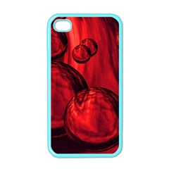 Red Bubbles Apple iPhone 4 Case (Color)