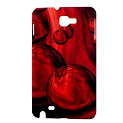 Red Bubbles Samsung Galaxy Note 1 Hardshell Case