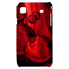 Red Bubbles Samsung Galaxy S i9000 Hardshell Case