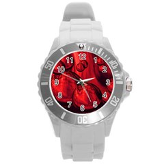 Red Bubbles Plastic Sport Watch (Large)