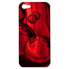 Red Bubbles Apple Iphone 5 Hardshell Case