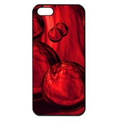 Red Bubbles Apple iPhone 5 Seamless Case (Black)