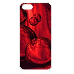 Red Bubbles Apple Iphone 5 Seamless Case (white)