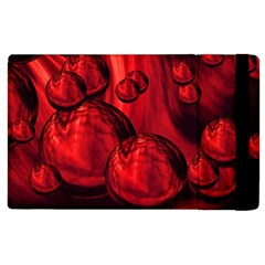 Red Bubbles Apple iPad 3/4 Flip Case