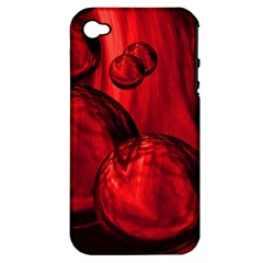 Red Bubbles Apple iPhone 4/4S Hardshell Case (PC+Silicone)