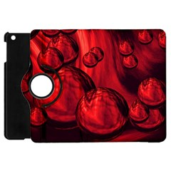 Red Bubbles Apple iPad Mini Flip 360 Case