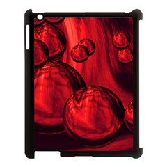 Red Bubbles Apple iPad 3/4 Case (Black)