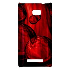 Red Bubbles HTC 8X Hardshell Case