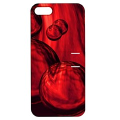 Red Bubbles Apple iPhone 5 Hardshell Case with Stand