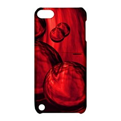 Red Bubbles Apple Ipod Touch 5 Hardshell Case With Stand