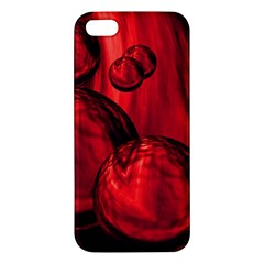 Red Bubbles iPhone 5 Premium Hardshell Case