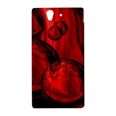 Red Bubbles Sony Xperia Z L36H Hardshell Case