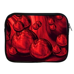 Red Bubbles Apple iPad 2/3/4 Zipper Case