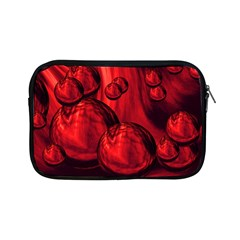 Red Bubbles Apple Ipad Mini Zipper Case