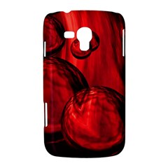 Red Bubbles Samsung Galaxy Duos I8262 Hardshell Case