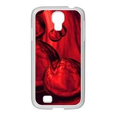 Red Bubbles Samsung GALAXY S4 I9500/ I9505 Case (White)