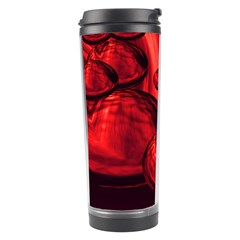 Red Bubbles Travel Tumbler