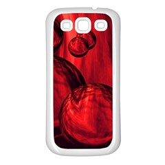 Red Bubbles Samsung Galaxy S3 Back Case (white)