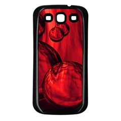 Red Bubbles Samsung Galaxy S3 Back Case (black)