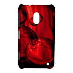 Red Bubbles Nokia Lumia 620 Hardshell Case
