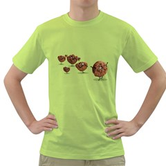 Zombie Cookie Mens  T Shirt (green)