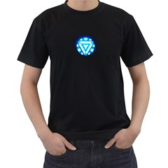 Tony Stark Mens' Two Sided T-shirt (Black)