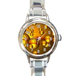 Sunset Bubbles Round Italian Charm Watch Front
