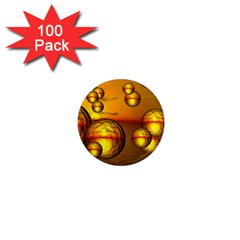 Sunset Bubbles 1  Mini Button Magnet (100 Pack)