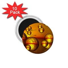 Sunset Bubbles 1.75  Button Magnet (10 pack)