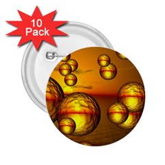 Sunset Bubbles 2.25  Button (10 pack)