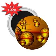 Sunset Bubbles 2 25  Button Magnet (10 Pack)