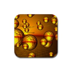 Sunset Bubbles Drink Coaster (square)