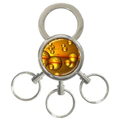 Sunset Bubbles 3 Ring Key Chain