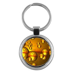 Sunset Bubbles Key Chain (round)