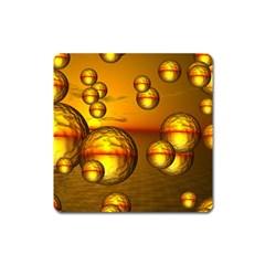 Sunset Bubbles Magnet (Square)