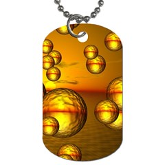 Sunset Bubbles Dog Tag (Two-sided)